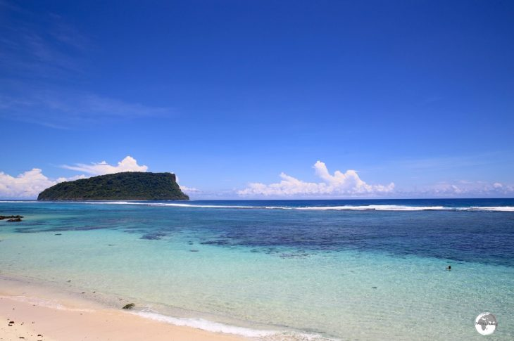 A view of the Lalomanu Beach, one of the finest south coast beaches.