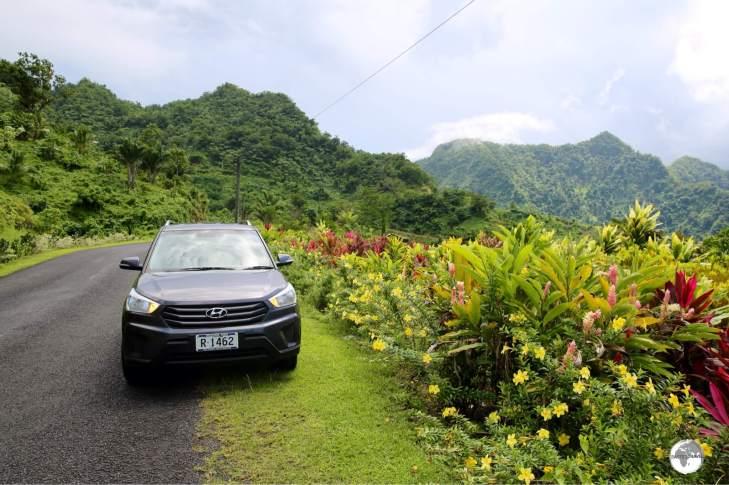 My rental car on scenic Upolu island.