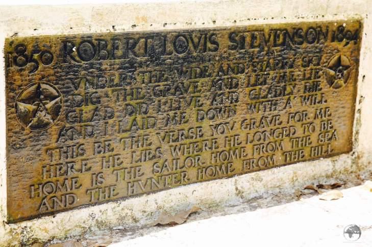 The tomb of Robert Louis Stevenson on Mount Vaea.