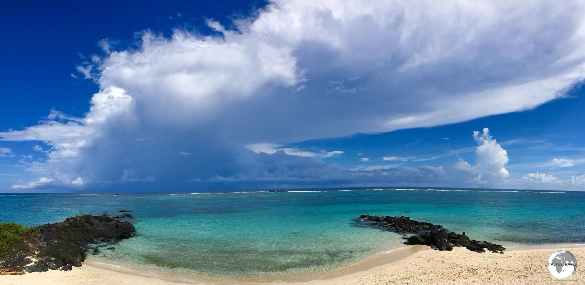 Storm clouds form over Vaisala beach.