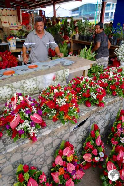 Flower seller at Fugalei market.