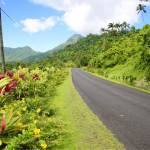 Typical landscape on scenic Upolu island.