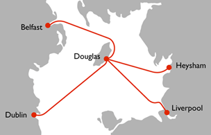 IOM Steam Packet Company Route Map