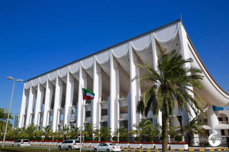 The National Assembly building was designed by Danish architect Jørn Utzon.