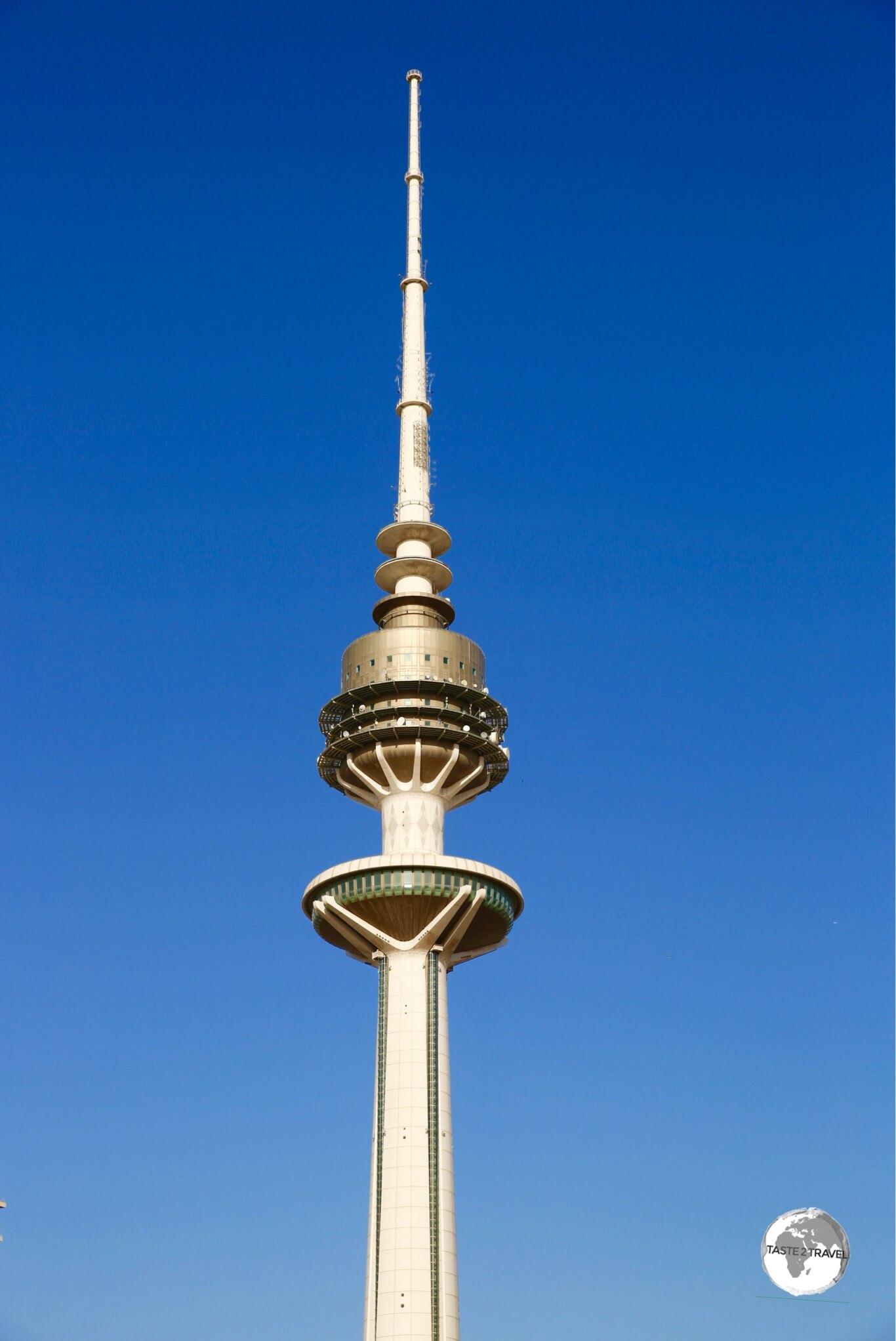 Liberation tower dominates the skyline of Kuwait City.