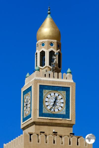 The dome of the Al Seif Palace clocktower is covered in real gold.