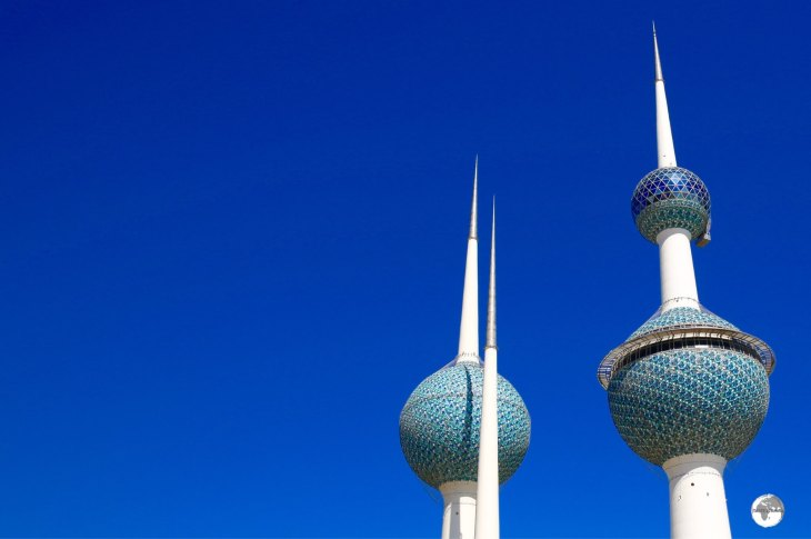 The Kuwait Towers are the main iconic symbol of Kuwait.