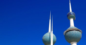 The iconic Water Towers in Kuwait City.