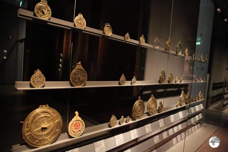 One of the many eclectic displays at the MIA - a collection of Astrolabe's.