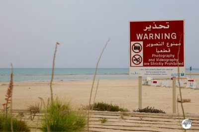 Photography is prohibited in the town of Dukhan, even at the beach.