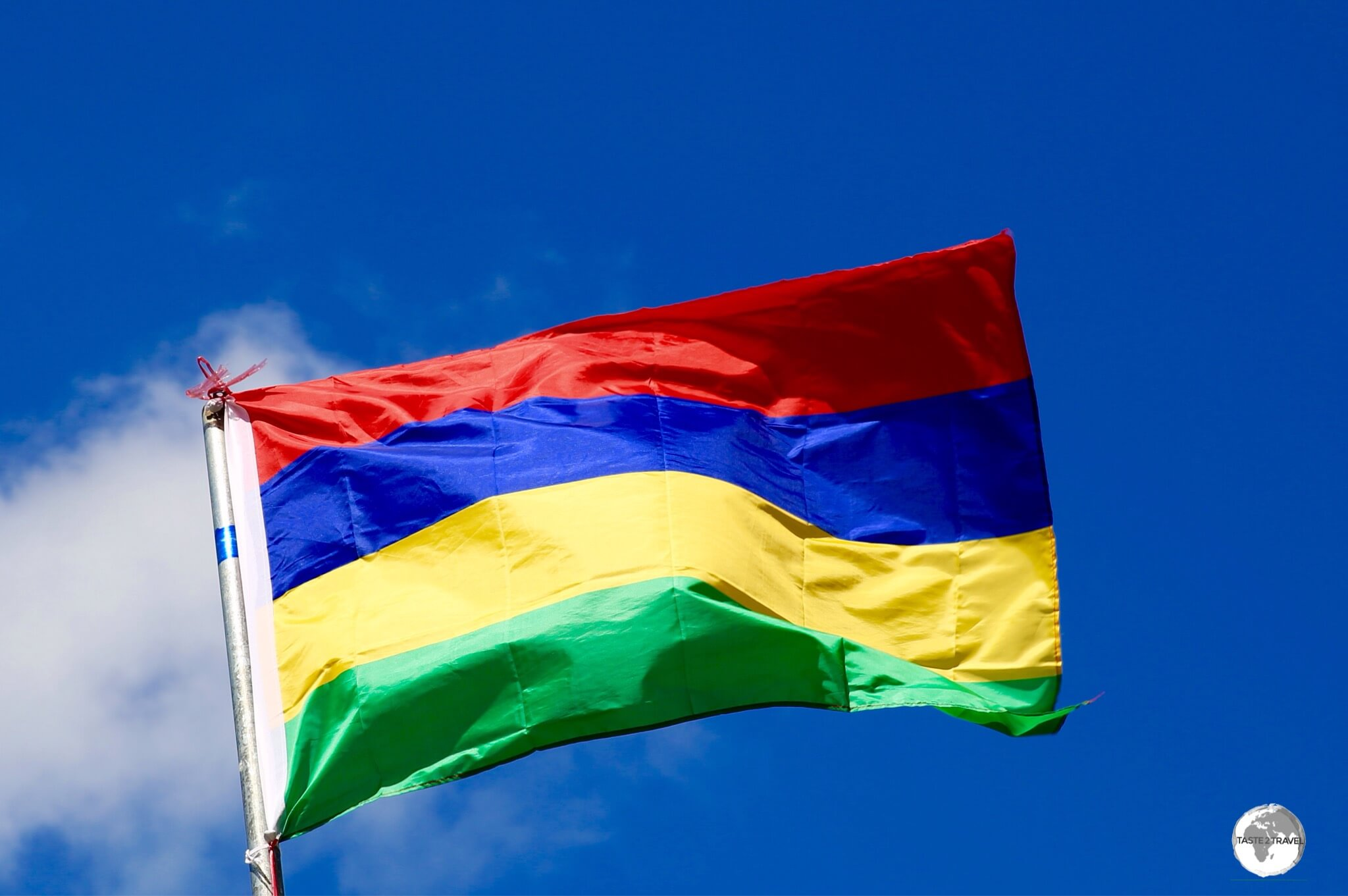 The flag of Mauritius is known as the 'Four Bands'.