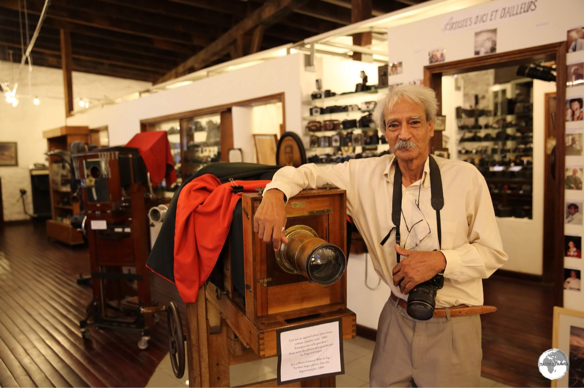 Mr Tristan Bréville is the founder of the Photographic Museum and the owner of the largest photographic archive of Mauritius.