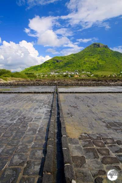 Empty salt pans at 'Les Salines de Yemen' in Tamarin.