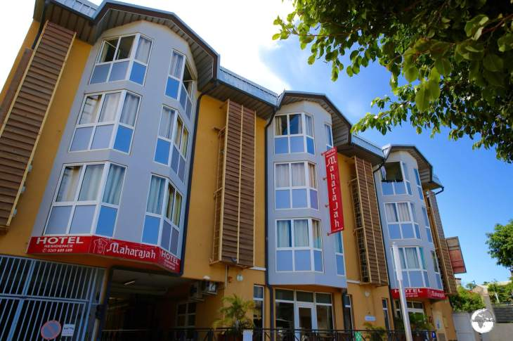 The biggest hotel on Mayotte, the 70 room, 3-star, Maharajah hotel.
