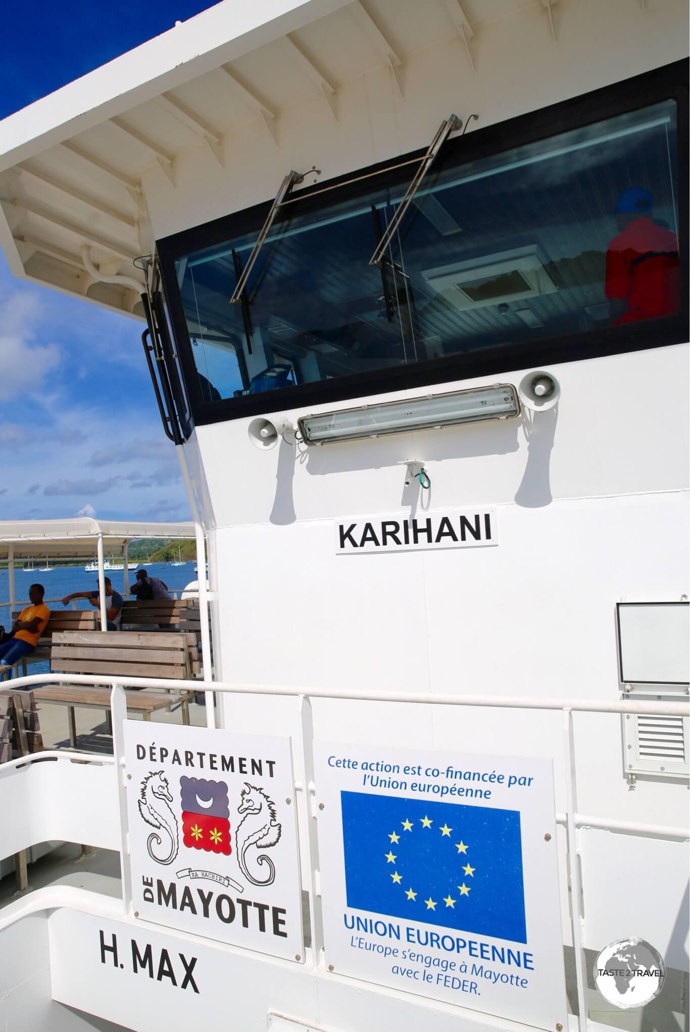 On board the Karihani barge.