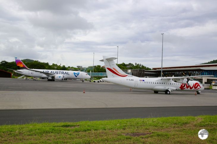 Ewa Air and Air Austral at Dzaoudzi–Pamandzi International Airport.