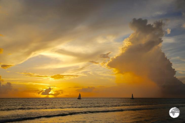 The sunsets over the beach at <i>St. Gilles</i> are spectacular.