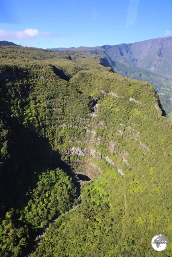 One of the many spectacular views of the <i>Cirque de Salazie</i> from my flight with Corail helicopters.