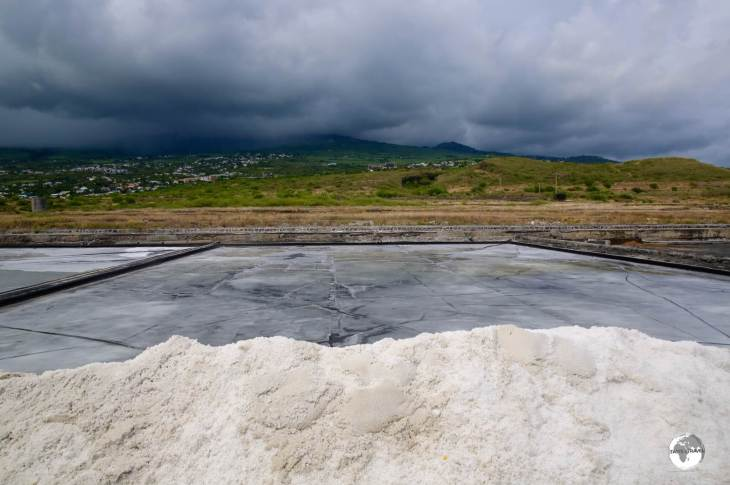 <i>Rain, rain, stay away</i> - any rainfall over the salt plans would ruin the production process which relies on evaporation.
