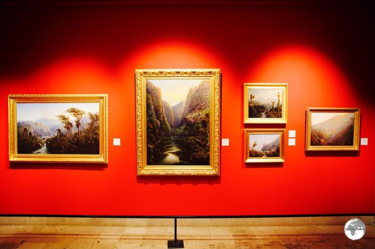 The beautiful galleries of the Musée Léon Dierx are lined with old-world paintings depicting the amazing landscapes of Reunion.
