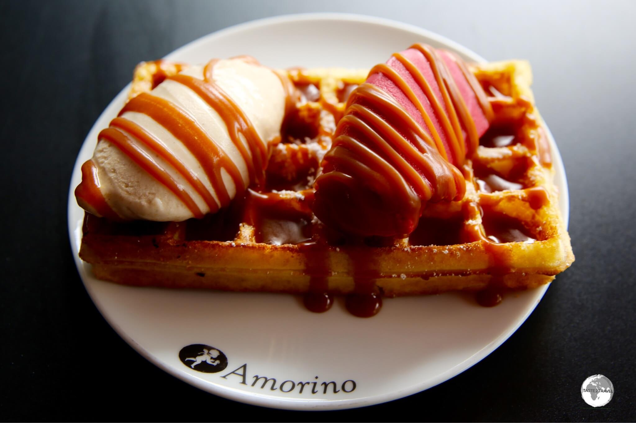 Many treats on Reunion are surprisingly affordable, including waffles and ice-cream.