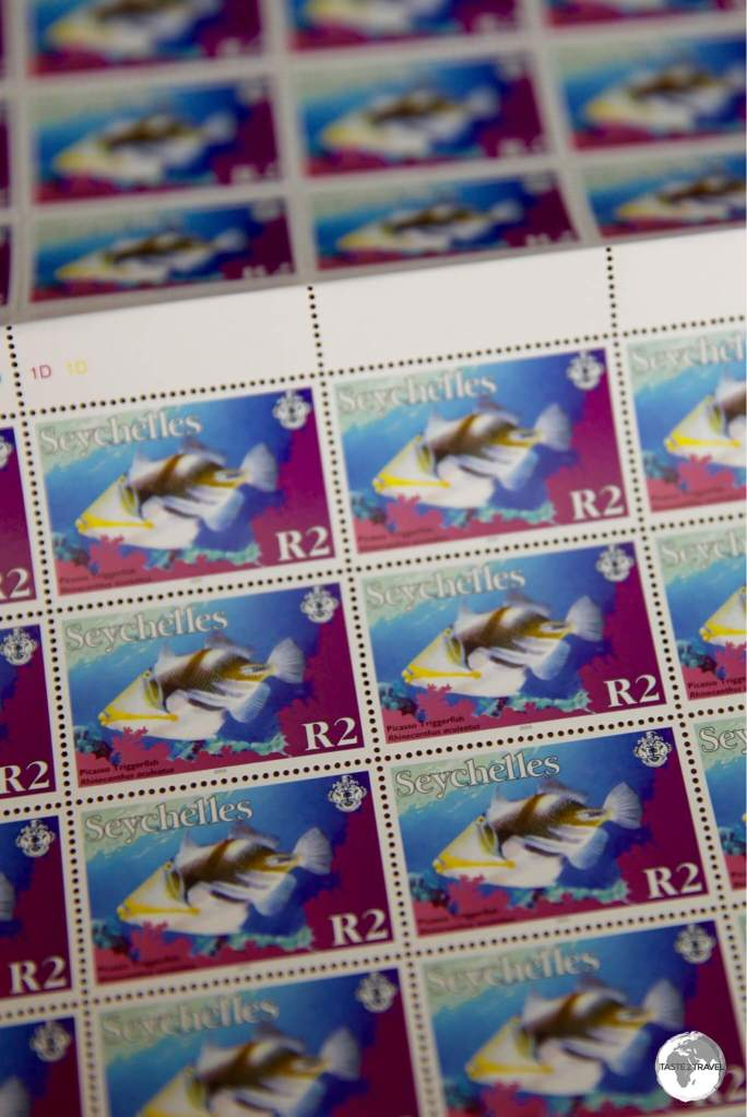 This definitive stamp from 2012 makes for an affordable souvenir at just US$0.15 each.