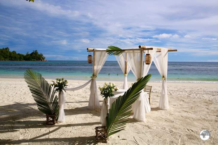 The Seychelles is a popular destination for weddings and honeymoons.