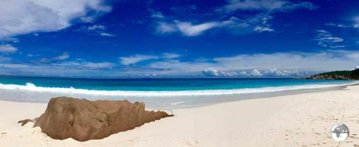 Truly stunning, the quiet, sandy expanse of Petite Anse - my favourite beach in the Seychelles.