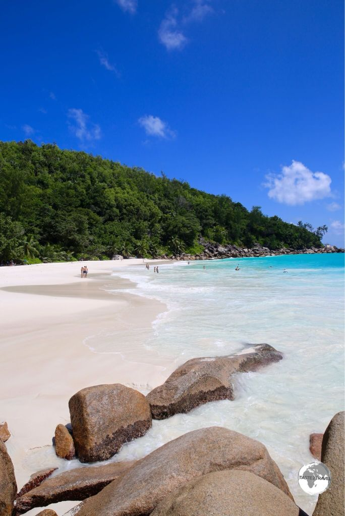 The remote but very beautiful Anse Georgette is situated on the north coast of Praslin.