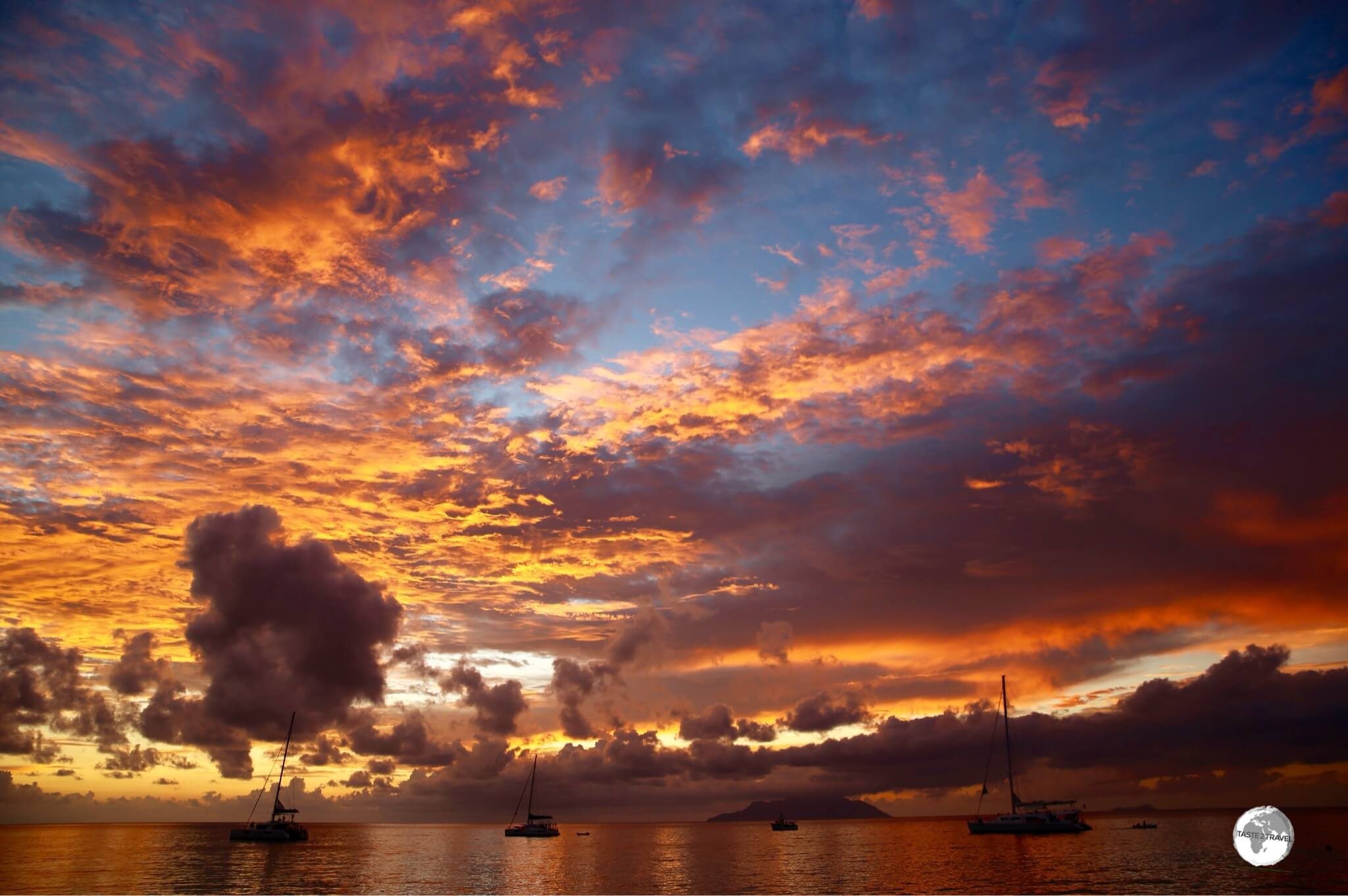 Beau Vallon is famous for its spectacular sunsets.