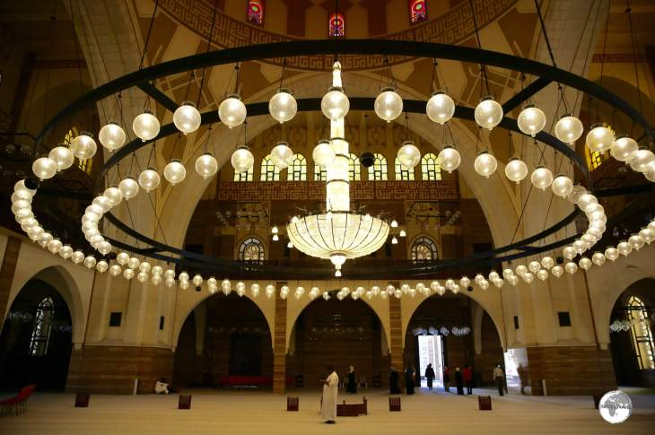 The mosque is the largest place of worship in Bahrain.