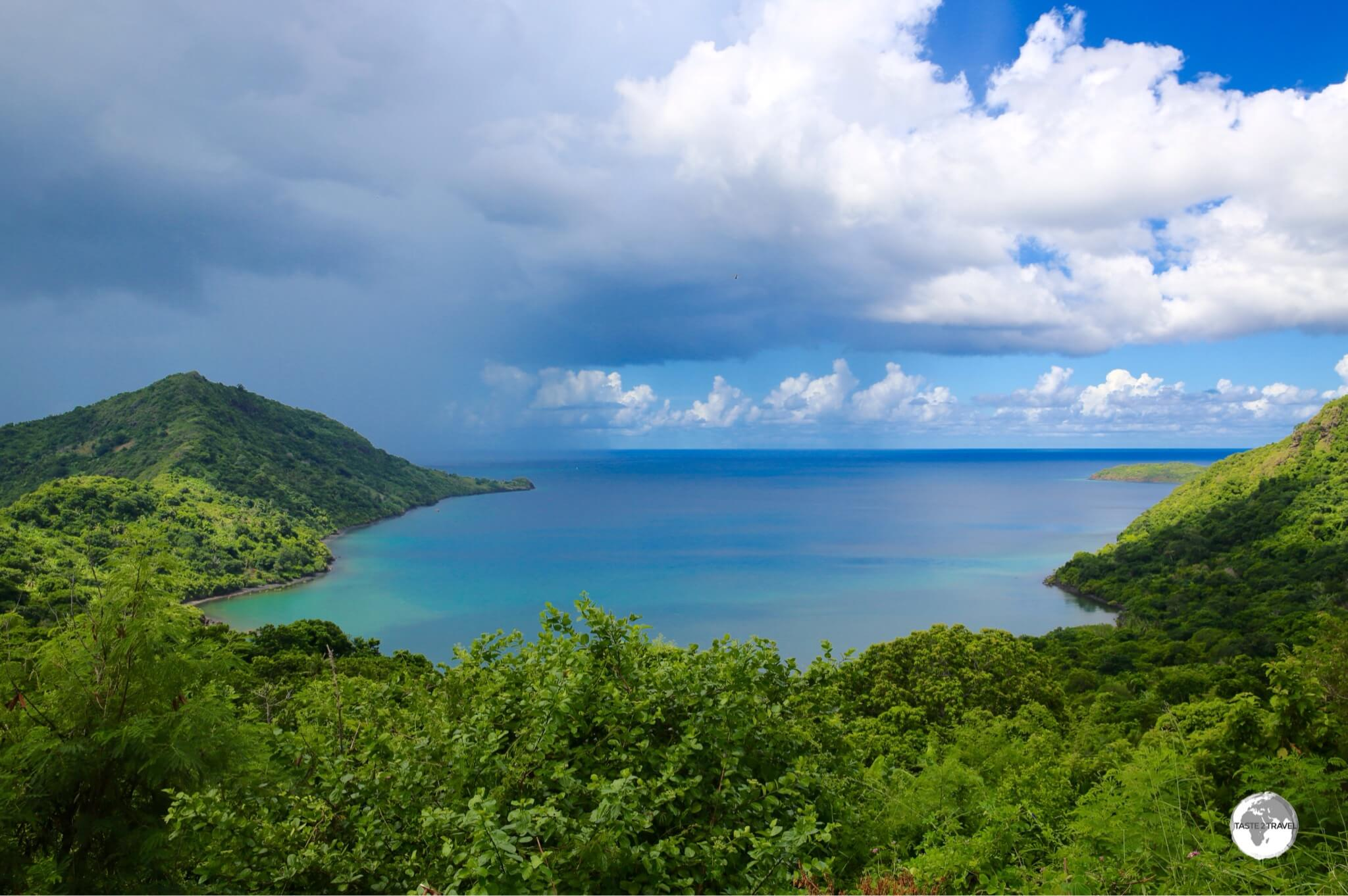 Storm clouds over Baie de Handréma, one of the best views on the north coast.