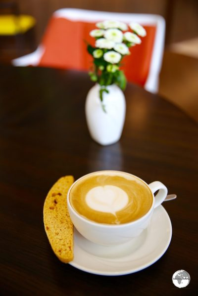 A coffee at the upscale Cafe Social, at the Hotel Intercontinental, costs Tk 400 (US$4.70).