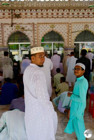Worshippers attend Friday lunchtime prayer at the Star Mosque.