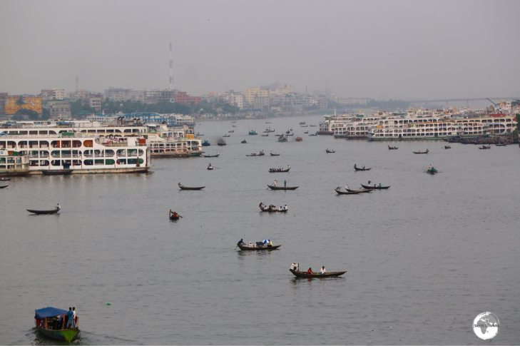 Sadarghat Boat Terminal is the busiest boat terminal in Bangladesh.