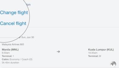 The 'Cancel Flight' option can be found in your Expedia itinerary.