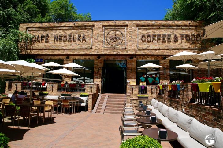 The Abay avenue branch of Cafe Nedelka is always inviting and offers some of the best coffee in Almaty.