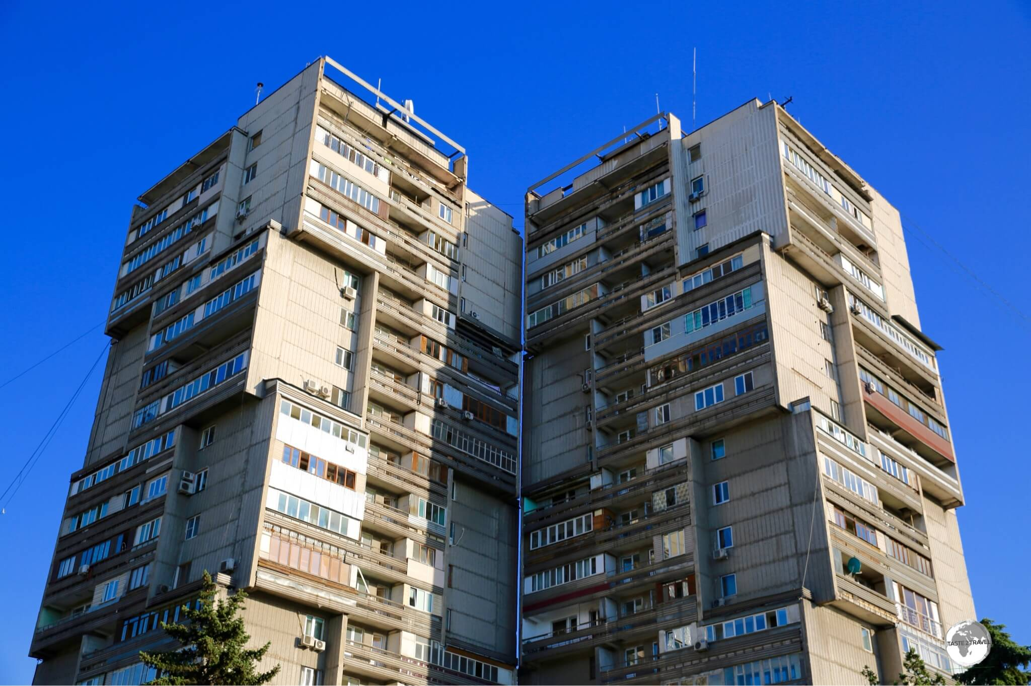 The streets of Almaty are lined with architectural reminders of the city's Soviet past.