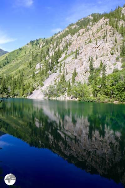"""""""Reflection"""" - Lower Kolsai Lake."""