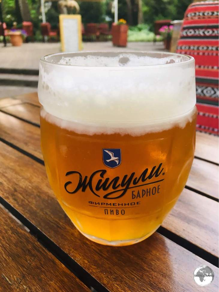 An ice-cold mug of local beer, very refreshing on a hot summer's day.