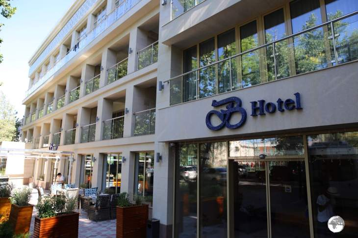The recently renovated and refurbished B Hotel is a comfortable option in downtown Bishkek.