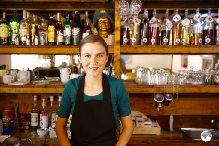 Karakol Coffee is a magnet for visiting travellers, where the wonderful Evgeniia works her Barista magic!