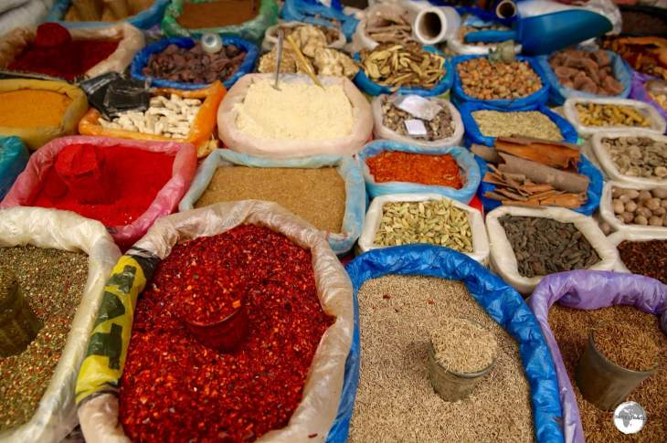 The spice section of Jayma Bazaar.