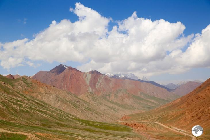 One last view of Kyrgyzstan, from the Kyzylart Pass (4,280 m / 14,042 ft), before crossing into Tajikistan.
