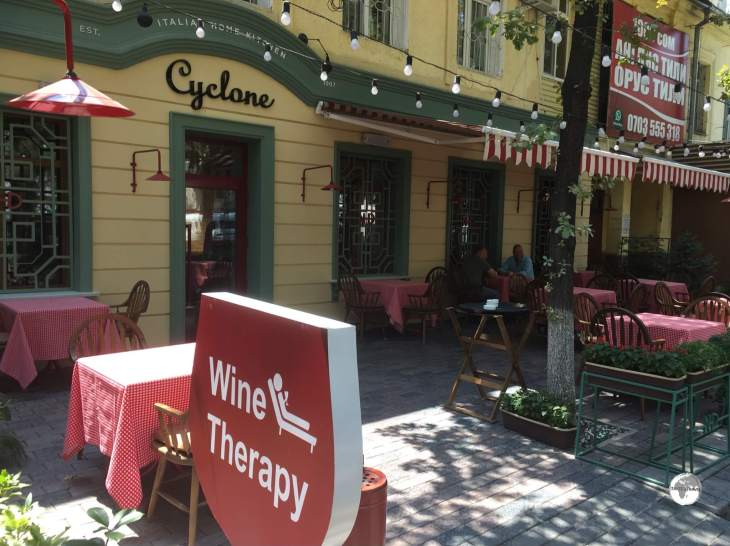 The Cyclone restaurant in Bishkek offers <i>Wine Therapy</i>. Yes please!