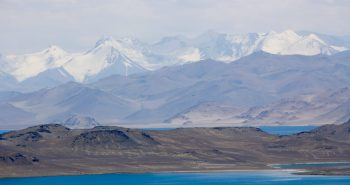 The truly breath-taking Karakul lake is located in the middle of nowhere, at an elevation of 3,960 m (12,990 ft).