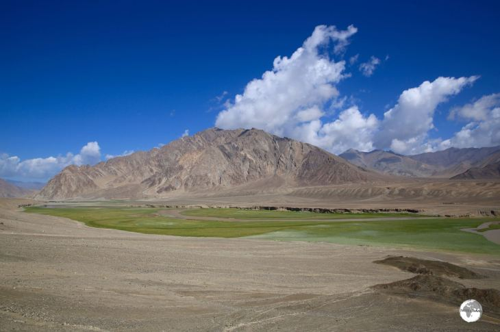 A view from the Pamir highway near the village of Alichur.