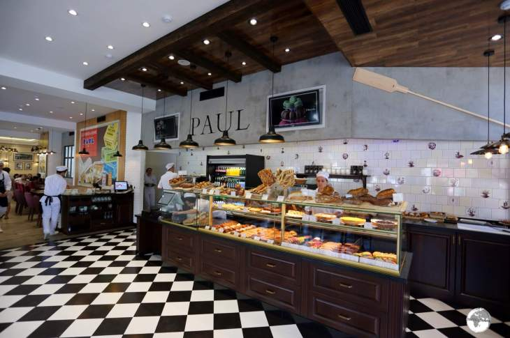 The newly opened 'Paul' cafe in Tashkent.