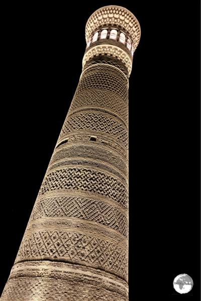 The Kalyan minaret in Bukhara so impressed Genghis Khan that he ordered it to be spared when he sacked the city.