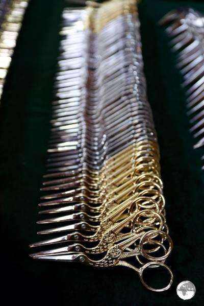 Bukhara is famous for its handmade 'Stork scissors'.